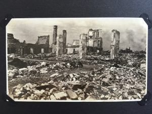 The scene of Helm Brothers' headquarters after the 1923 earthquake